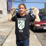 Jordan from Devil's Teeth rocking the new Tee and pulling sick tricks.  How 'bout an egg sando?